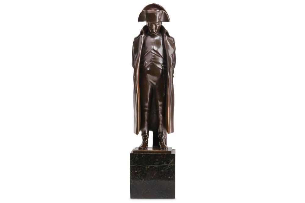 MATHIEU MOLITOR (GERMAN, 1873-1929): A BRONZE FIGURE OF NAPOLEON, 1912
