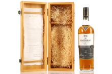 The Macallan 21 year old Highland Single Malt Scotch Whisky, fine oak triple cask matured barrels, wooden boxed, with associated literature, 700ml, (43% ABV)