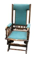An American beech rocking chair, early 20th Century