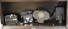 A collection of seven various cameras, to include a Swiss Bolex H16 J model, Admira 8F filming camera, an early 20th Century American Victor Cine camera by Victor Animatograph Co.