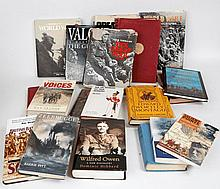 A selection of military books covering World War I