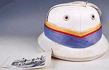 A 1926 Regimental polo helmet and photographs of