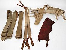 A '43 pattern military web belt and '41 pattern