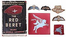 Parachute Regiment wings, cloth badges and Pegasus
