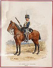R. Simkin, British (1840-1926), study of