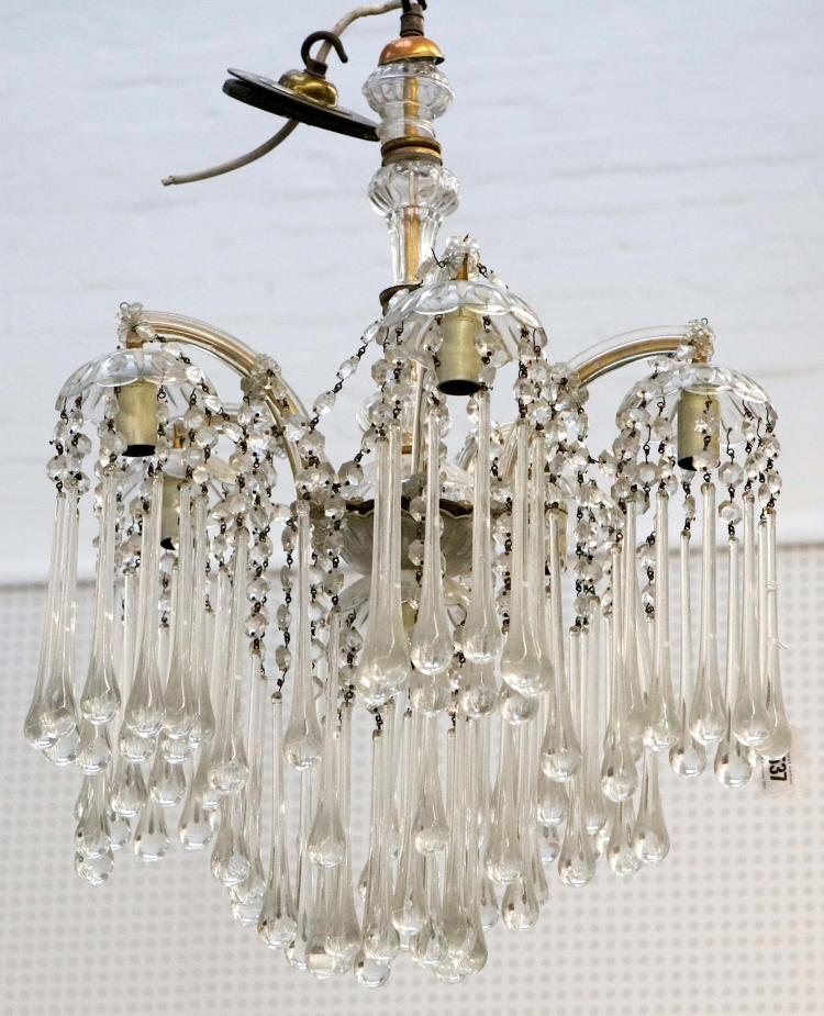 A five branch murano glass chandelier - Chandelier a 5 branches ...