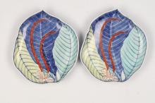 A PAIR OF NABESHIMA STYLE DISHES.
