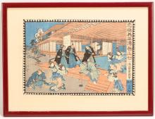 A GROUP OF WOODBLOCK PRINTS BY EISEN AND OTHERS.