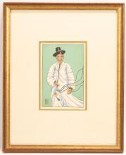 TWO PRINTS BY LILIAN MILLER AND ONE BY PAUL JACOULET.