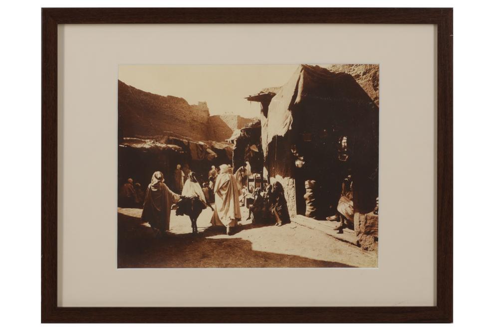 MARKET STREET OF BRISKA Algeria, ca.1900, Alexandre Bougault (1875 - 1950)