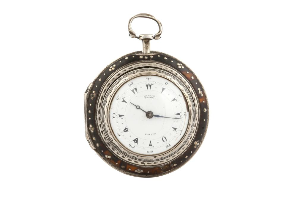 AN ENGLISH OPEN FACE PAIR-CASED POCKET WATCH MADE BY GEORGE PRIOR FOR THE TURKISH MARKET London, England, circa 1812