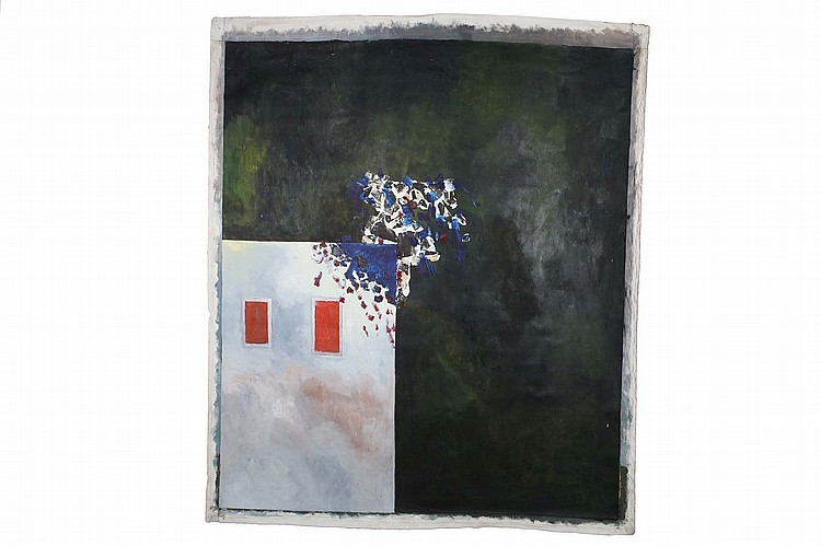 ZHAO GANG (1961 –).   c. 1988.   Untitled, oil on canvas, 165 x x126cm.   Provenance: Gordon Aldrick Collection; acquired directly from the artist in New York, following the exhibition Gang Zhao: Selected Abstract Works 1983-88, Vorpal Gallery, 1988.   ??(1961 –)  ??   ??????