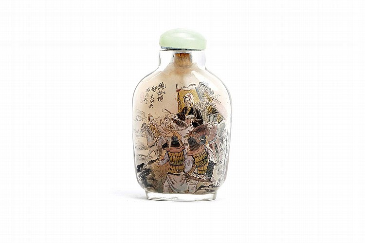 A CHINESE INSIDE PAINTED SNUFF BOTTLE.   1982.   7cm H.   ?????