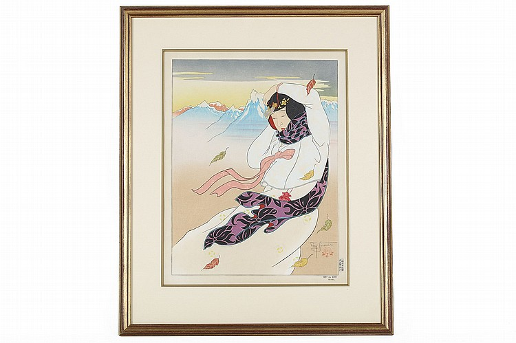 PAUL JACOULET (1896 – 1960).   Thirty woodblock prints from the Korean series, each signed in pencil, framed and glazed, 39 x 31cm. (30)   Provenance: London private collection.   Paul Jacoulet ???????30?