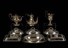 A mixed lot of Antique Silver plated items