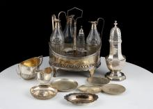 A mixed lot of Antique Sterling Silver items