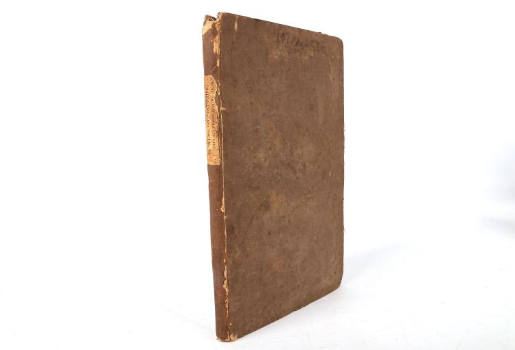HEATHCOTE, Captain Sir Henry.(1777-1851). Treatise on Stay-Sails. London: Baldwin Cradock and Joy, 1824. 8vo.2 engraved plates and 13 plates of diagrams (without errata slip, occasional light spotting, without errata slip). Original grey/brown boards (spine chipped and rubbed, boards rubbed). Provenance: Rich'd Harrington (signature to upper boards) Bookplate (anon). FIRST EDITION.