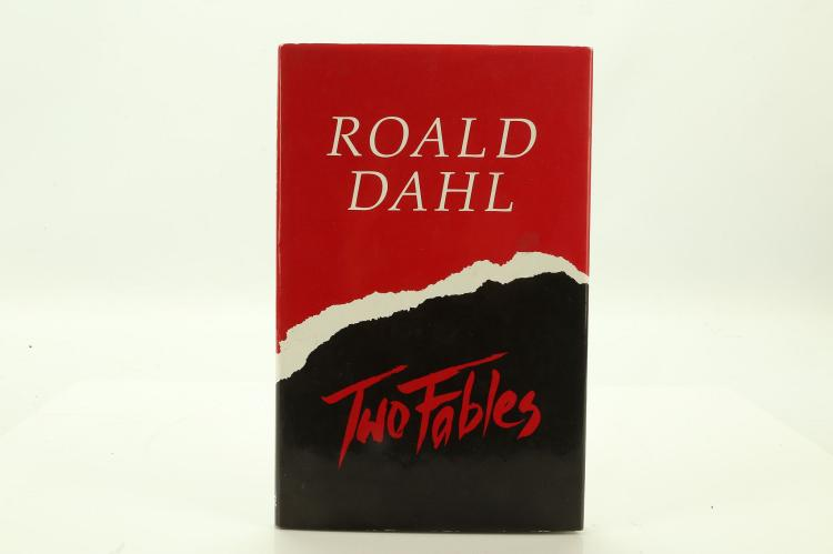 DAHL, Roald (1916-90). Two Fables. Middlesex: Viking, 1986. 8vo. Illustrations. Black cloth with red and black dust-jacket (light chipping). SIGNED