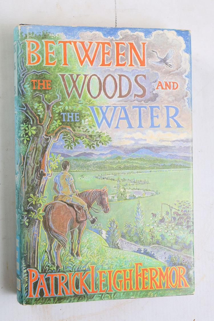 LEIGH FERMOR, Patrick (1915-2011). Between The Woods and the Water. London: John Murray, 1986. 8vo. Publisher's blue pictorial cloth, gilt, with green and blue illustrated dust-jacket (lightly chipped). SIGNED by Patrick Leigh Fermor on the title page, Fermor. [With]: scarce Errata slip loosely inserted, curiously pp. 223-238 have been mis-bound). FIRST EDITION. With: Two other works: John Le Carré's Single & Single (London: Hodder& Stoughton, 1999). SIGNED andan unsigned copy ofJohn Le Carré's The Tailor of Panama (New York: Alfred A. Knopf, 1996). (3)