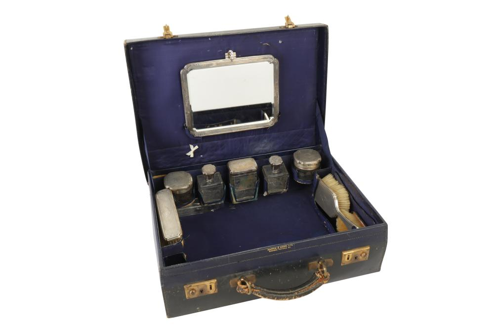 A GEORGE V MAPPIN & WEBB TRAVELLING VANITY CASE