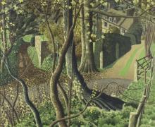 Simon Palmer (British, born 1956)/Country House, Sapperton/signed/watercolour, 55.5cm x 87.5cm