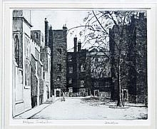 Herbert Reeve/Old Square, Lincoln's Inn/etching, 2