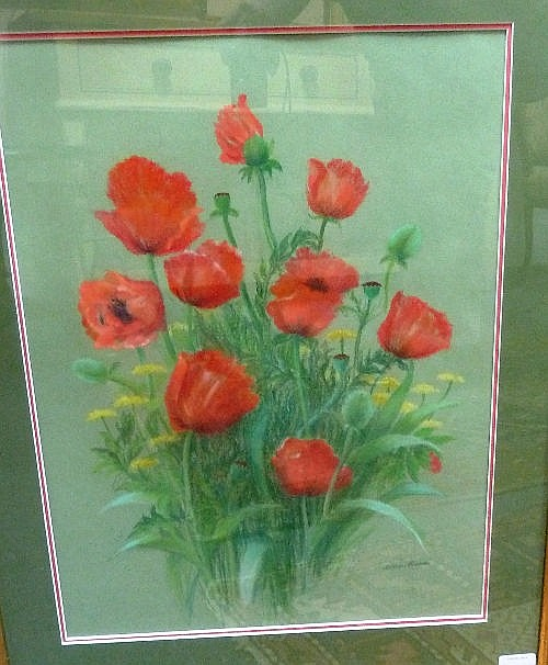 Dawn Cookson (British 1925 - 2005)/Poppies/signed