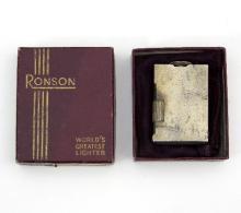 A Ronson silver lighter, B & C, Birmingham 1947