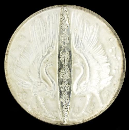 Lalique a deux oiseaux hand mirror design circa 1919 moul - Oiseaux lalique prix ...