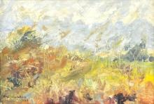 Franklin White (1892-1975)/Landscape/signed and dated 1962/oil on board, 23.5cm x 33.5cm