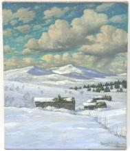 Conrad Hans Selmyhr (1877-1944)/Hovringen/signed and dated 1941/oil on canvas, 60cm x 50cm