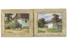 Tibor Szontagh (1873-1930)/Landscapes/a pair, signed/oil on canvas, 21cm x 26cm