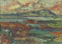 Elliot Seabrook (1886-1950)/The Lizard/signed/oil on board, 43.5cm x 60cm