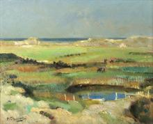 Michael D'Aguilar (1924-2011)/The Dyke Overy Staithe, Norfolk/signed and dated '69/oil on canvas, 40cm x 50cm