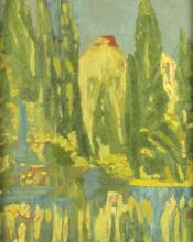 20th Century Continental School/Garden Landscape/oil on canvas, 55cm x 44cm