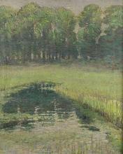 20th Century Impressionist School/River Landscape/oil on canvas, 65cm x 55cm