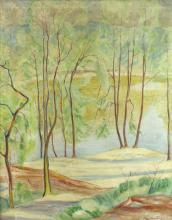 20th Century Continental School/Woodland Track/indistinctly signed, M Manella/oil on canvas, 78cm x 64cm