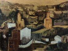 Eric Isenburger (German 1902-1994)/Spanish Landscape (Vallcarca, Barcelona)/signed and dated 1933/oil on mountboard, 49cm x 64cm
