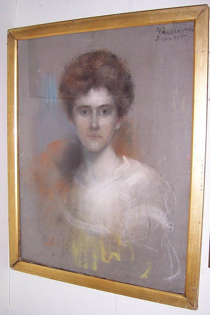 Georg Sauter, 1896 BUST PORTRAIT OF A LADY signed