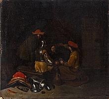 Gerard Terborch/Interior with Soldiers