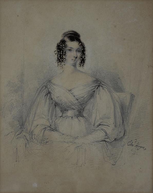 Edward Hayes (Irish 1797-1864) PORTRAIT OF A LADY