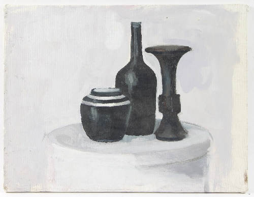 Barbara Dorf 1933 2016monochrome Still Life With Vases On