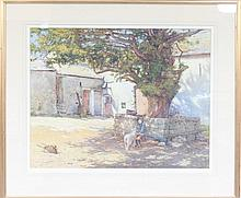Percy Brooke/The Pet Lamb/signed lower left/watercolour, 49cm x 63cm/Provenance: The Barn Gallery, Worcester, Spring Exhibition 1981