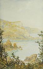 Arthur Suker (British 1857-1902)/Anstys Cove, Devon/watercolour, 45cm x 29cm