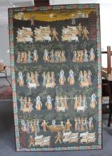 An Indian painting of  a procession with Buddhist deity, 193cm x 119cm (76'' x 47'')