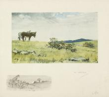 Charles 'Snaffles' Johnson Payne (British 1884-1967)/The Informers/artist's proof coloured engraving, 25.5cm x 42.5cm/see illustration