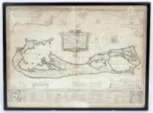 Abraham Goos after John Speed/A Map of the Sommer Islands, Bermuda, circa 1622/44cm x 55cm