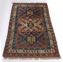A Turkey Milas rug of geometric design, 190cm x 128cm