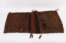 A Turkey saddle bag, a Syrian grain bag and Iranian table cover