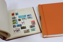Two World stamp albums, various
